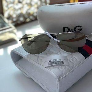 Dolce&Gabbana DG2129 Silver Mirror Sunglasses 62 B